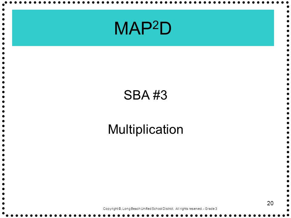 MAP2D SBA #3 Multiplication