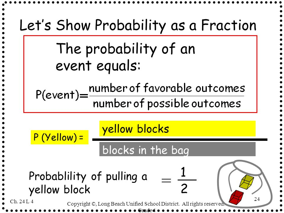Let's Show Probability as a Fraction