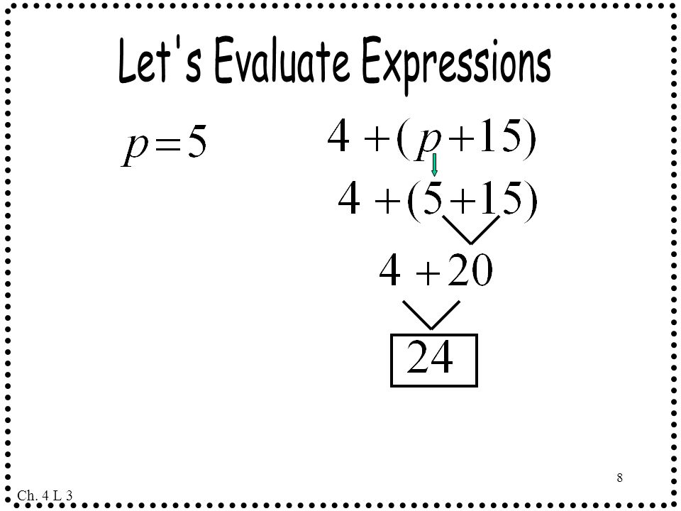 Let s Evaluate Expressions
