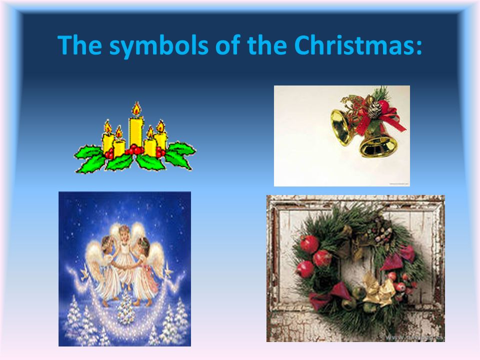 The symbols of the Christmas: