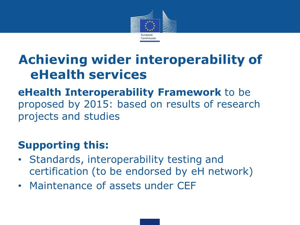 Achieving wider interoperability of eHealth services