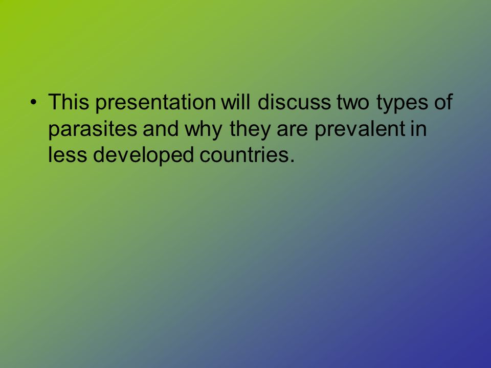 The Parasites of Poverty - ppt download