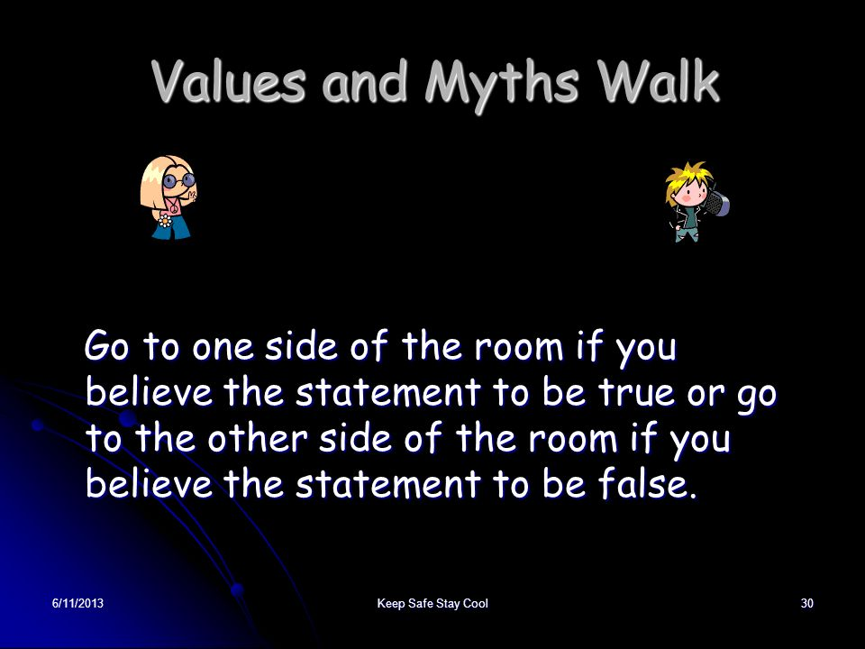 Values and Myths Walk