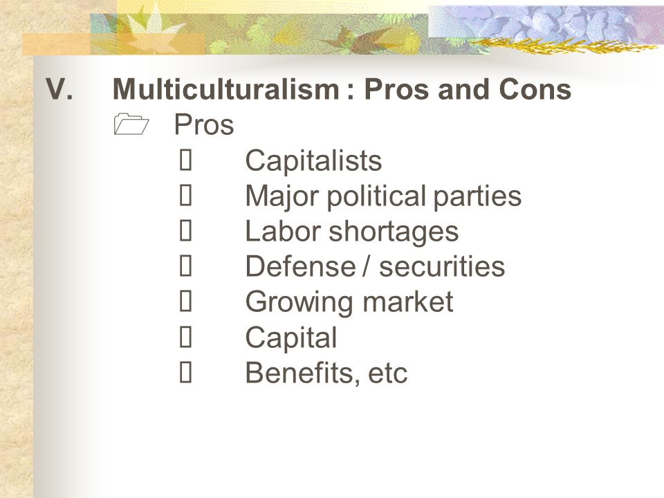 pros of multiculturalism