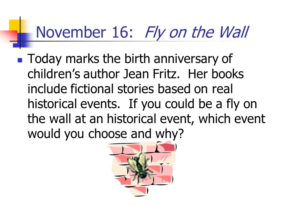November 16: Fly on the Wall
