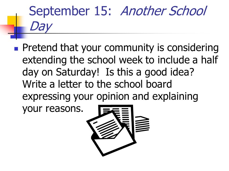 September 15: Another School Day