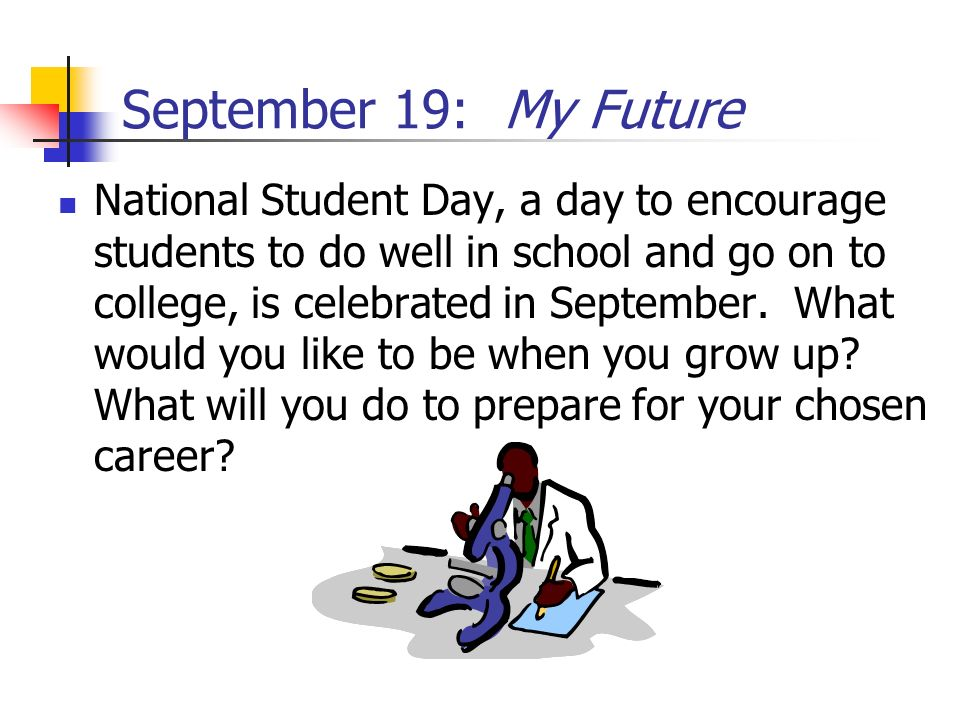 September 19: My Future