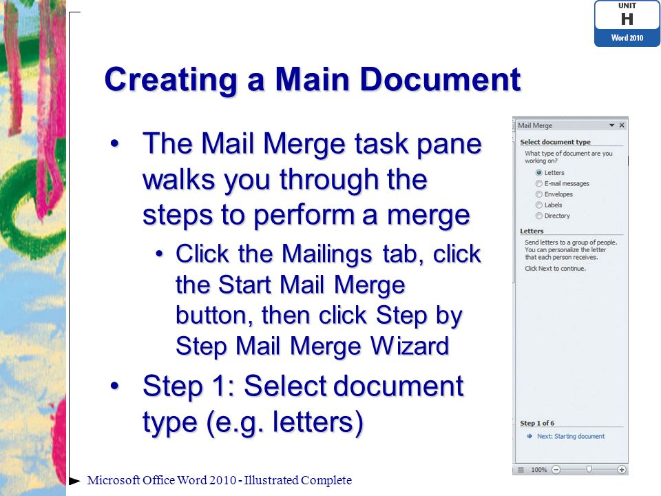 Microsoft word illustrated ppt video online download creating a main document spiritdancerdesigns Image collections