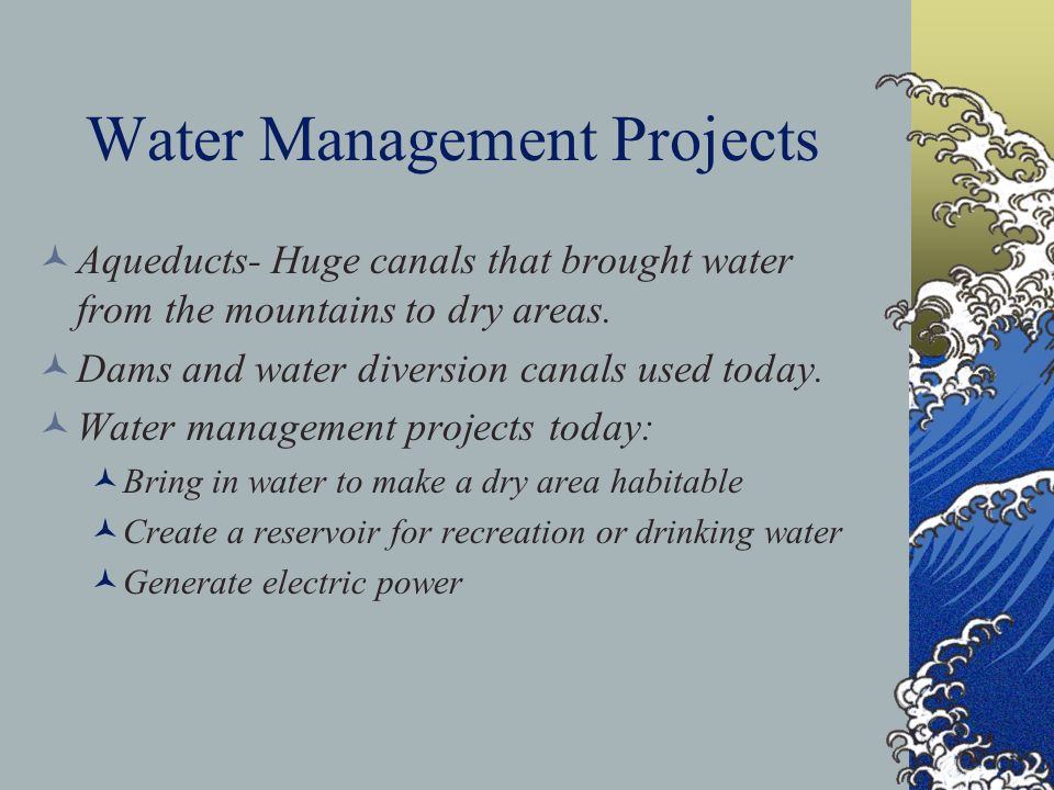 Water Management Projects