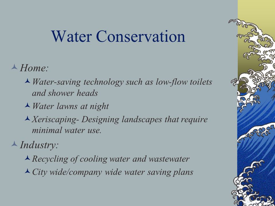 Water Conservation Home: Industry: