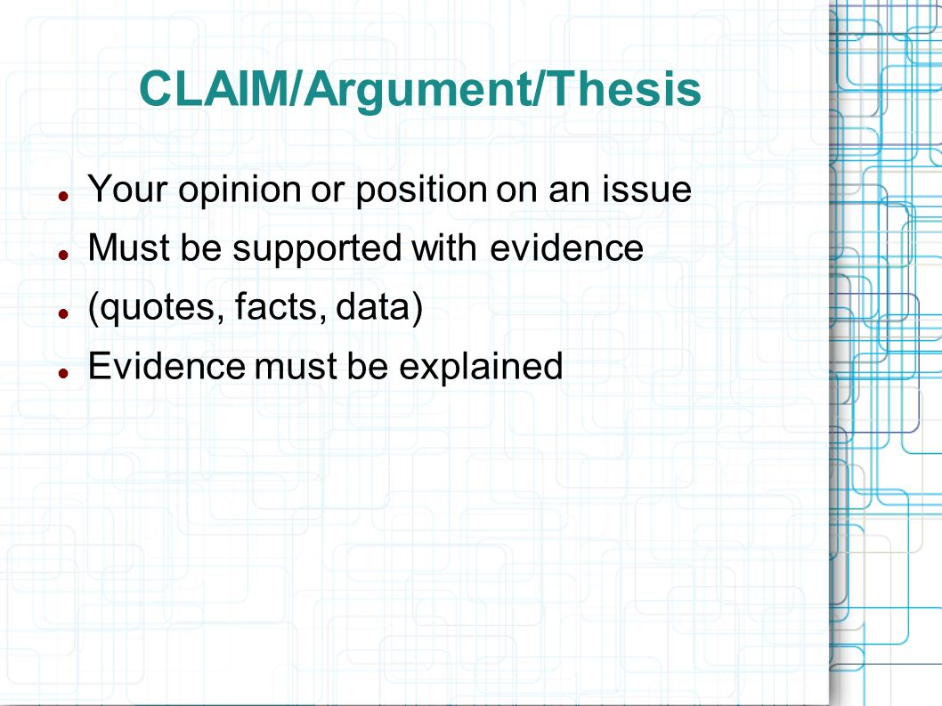 Buy Presintation  Claimargumentthesis Examples Of A Thesis Statement For An Essay also Health Care Reform Essay The Argumentative Essay  Ppt Video Online Download Essay Papers Examples