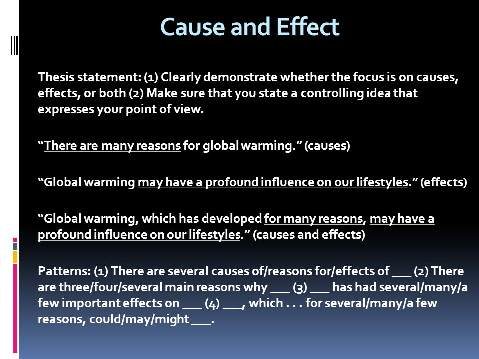 global warming thesis statement ideas