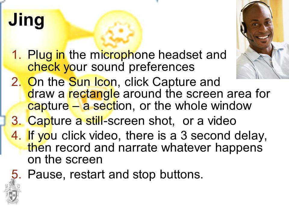 Jing Plug in the microphone headset and check your sound preferences