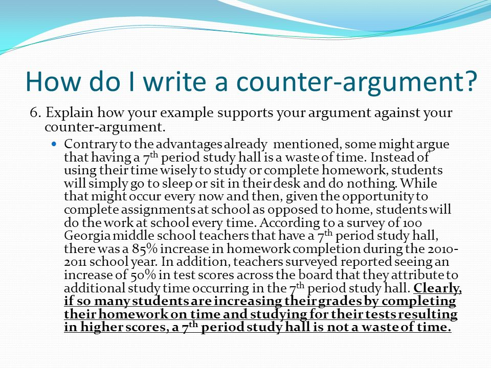 argument and counter argument essay
