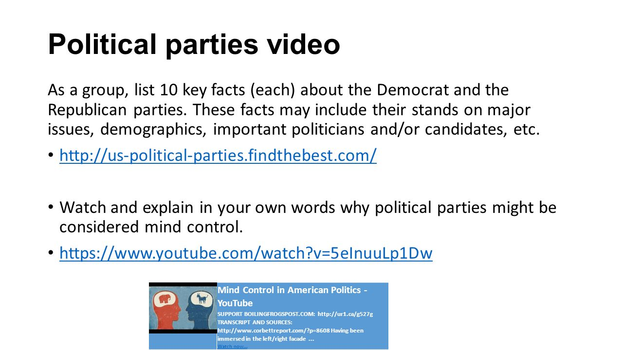 Political parties video