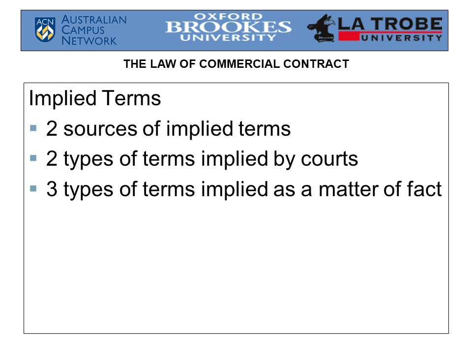 what are implied terms