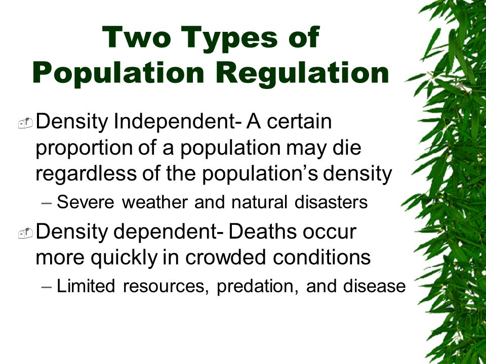 Two Types of Population Regulation