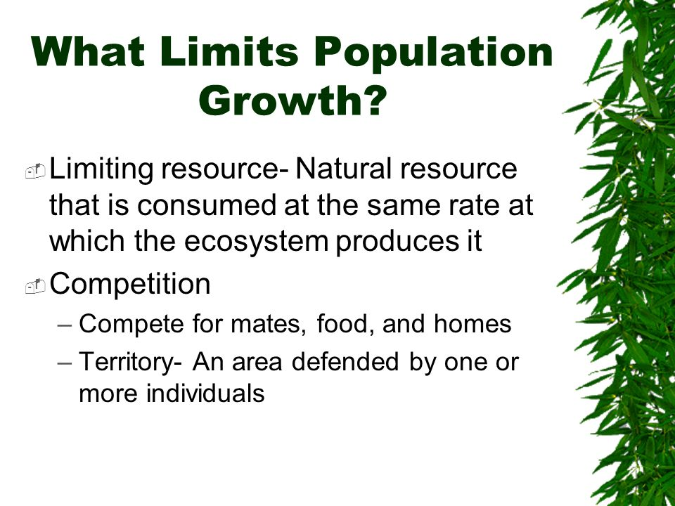 What Limits Population Growth