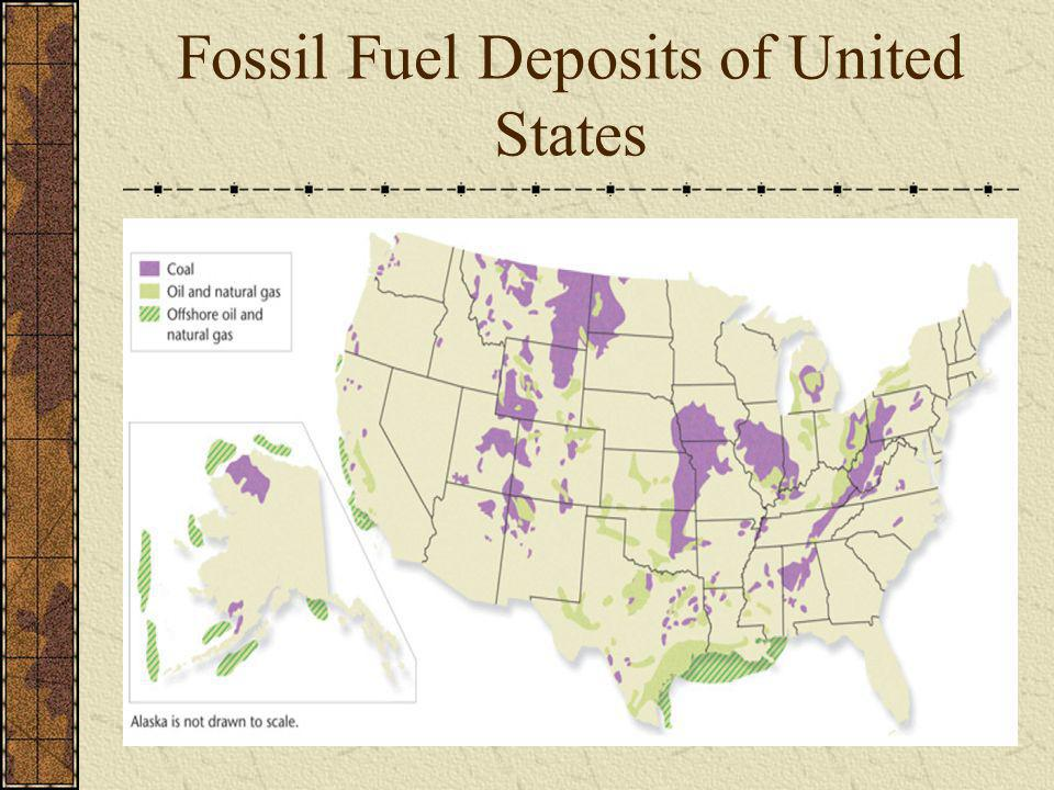 Fossil Fuel Deposits of United States