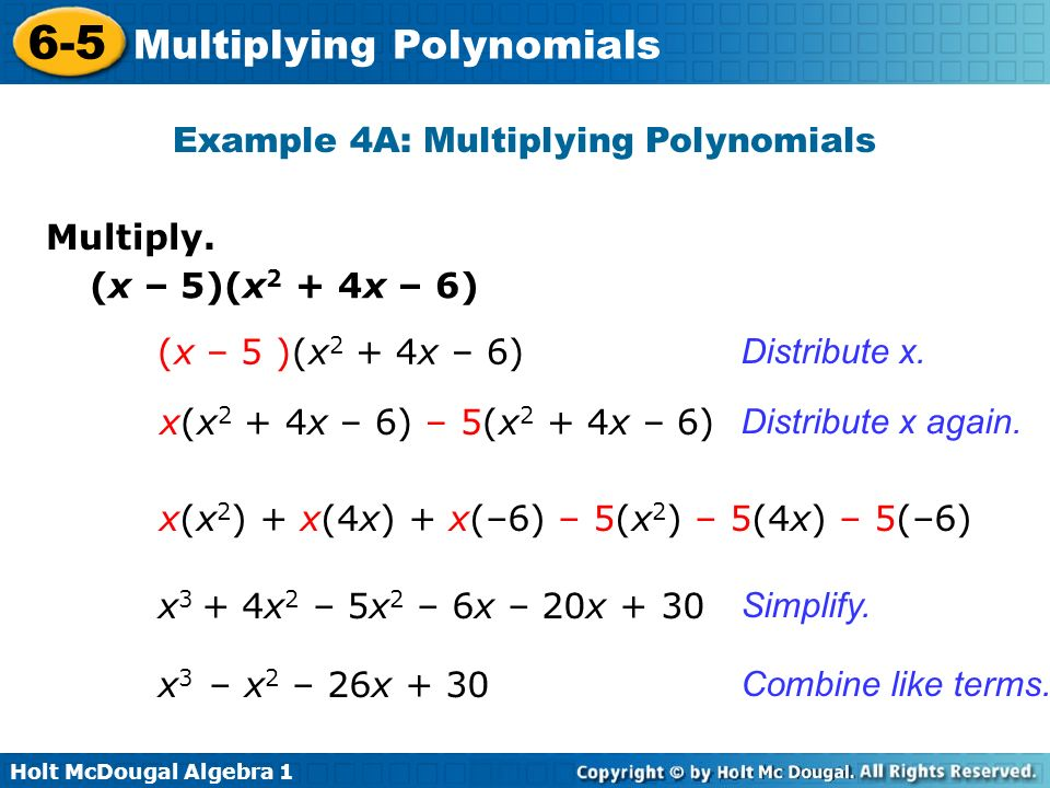 Multiplying Polynomials Ppt Video Online Download