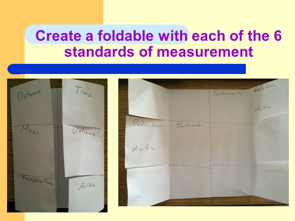 I MEASUREMENTS A ALL MEASUREMENTS MUST HAVE TWO PARTS 1 A