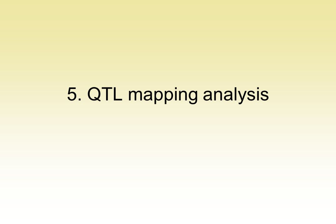 5. QTL mapping analysis