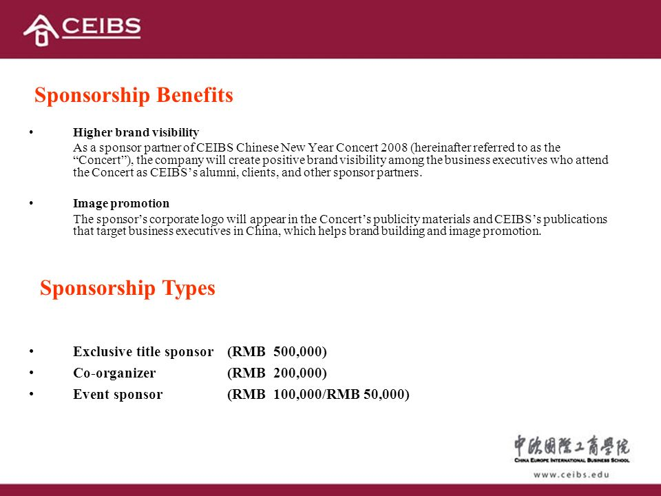 3 Sponsorship Benefits Types
