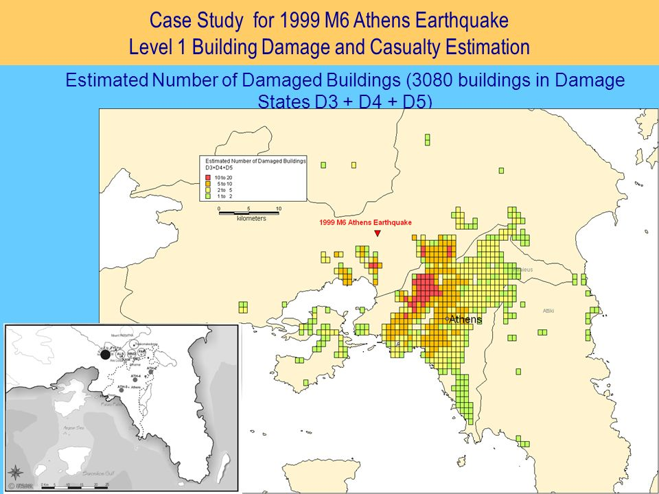 Case Study for 1999 M6 Athens Earthquake Level 1 Building Damage and Casualty Estimation