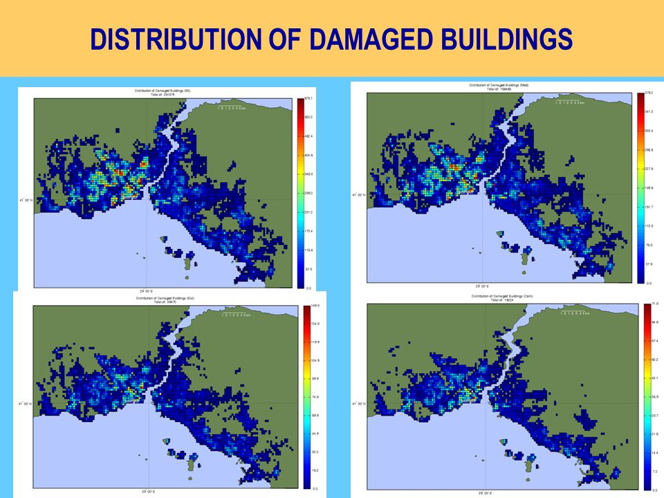 DISTRIBUTION OF DAMAGED BUILDINGS