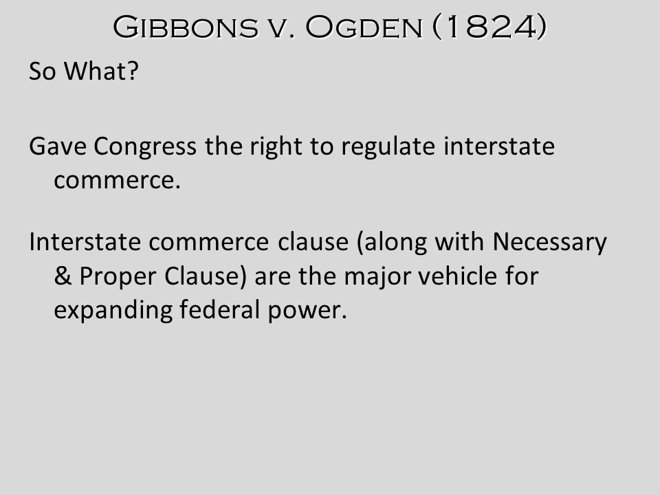 Interstate Commerce 1824