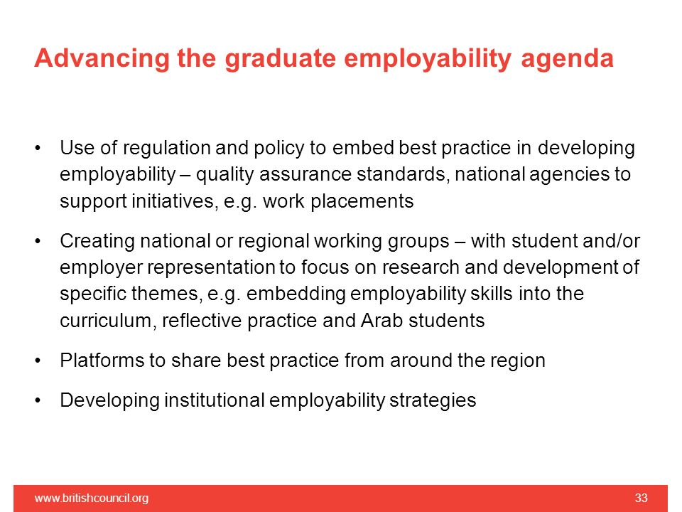 Advancing the graduate employability agenda