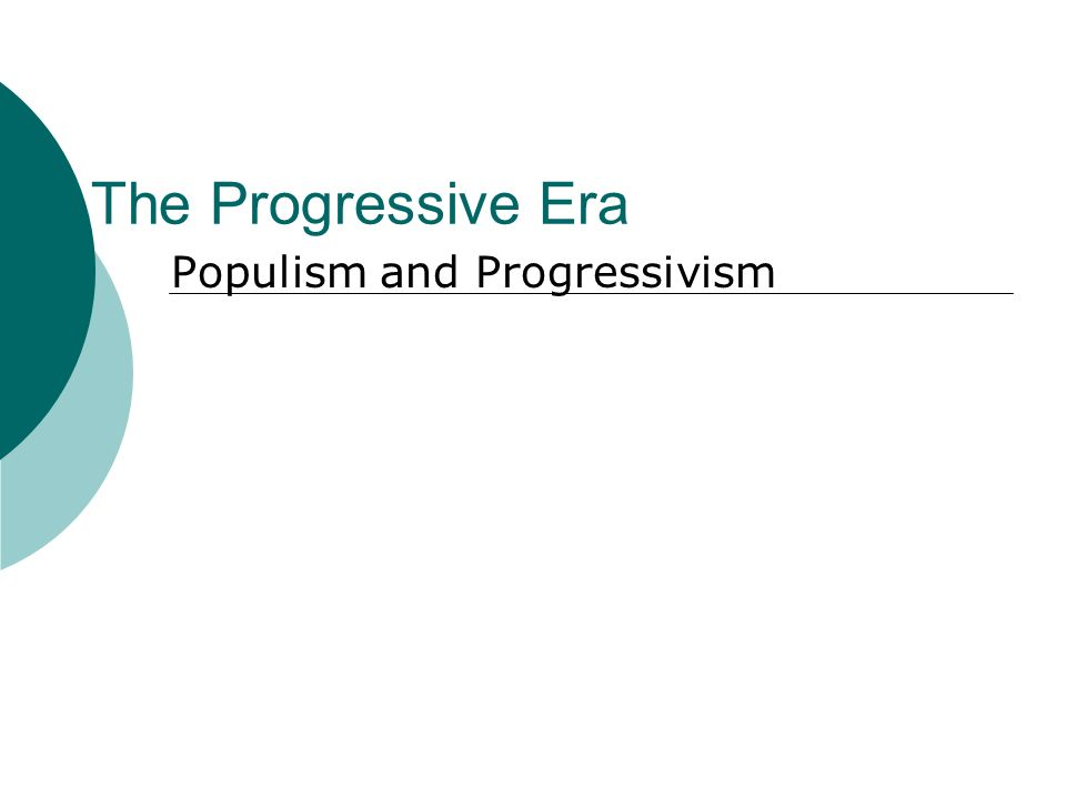 compare and contrast populism and progressivism essay Populism vs progressivism in the late 19th to early 20th century, the ideas of populism and progressivism weren't that well understood as opposed to how much the people knew about the existence of.