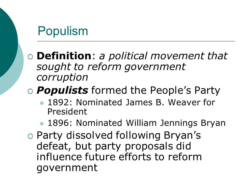 populism and progressivism
