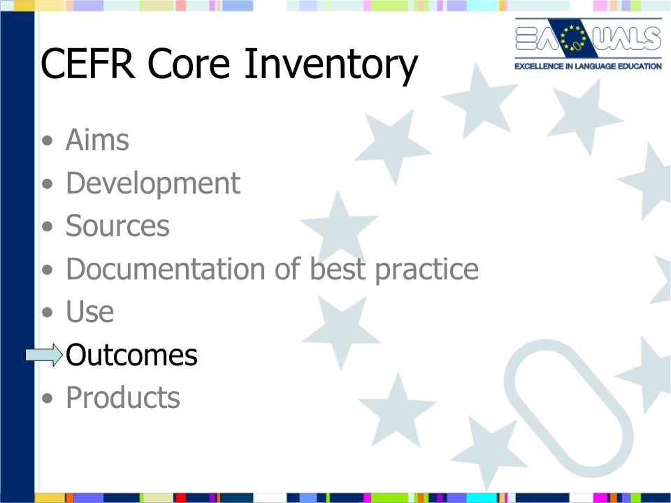 CEFR Core Inventory Aims Development Sources