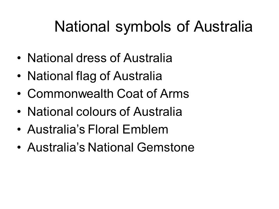 National Symbols Of Australia Ppt Video Online Download