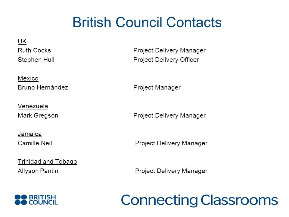 British Council Contacts