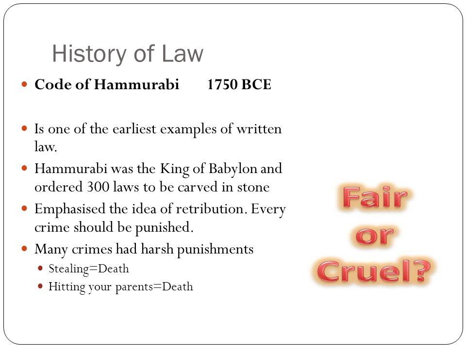 hammurabi laws fair or cruel