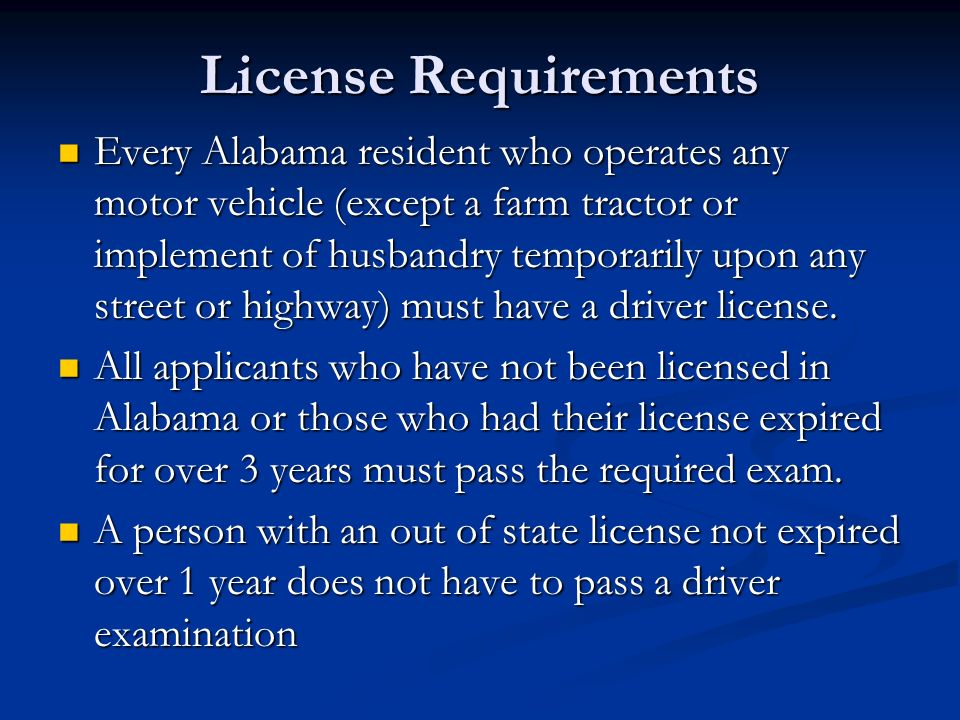 Drivers license manual alabama teen