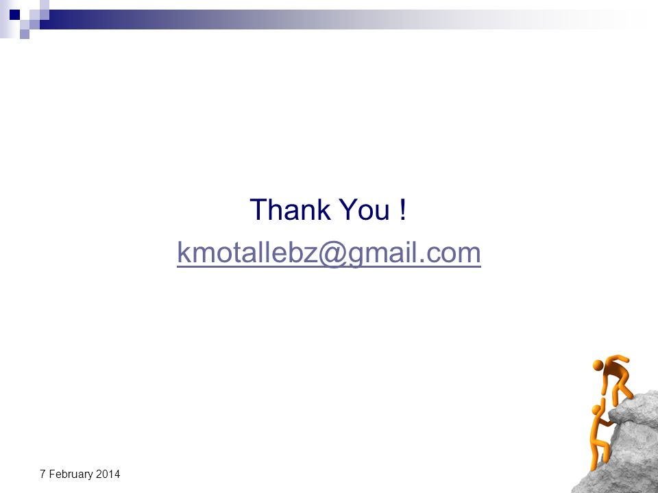 Thank You ! kmotallebz@gmail.com 27 March 2017