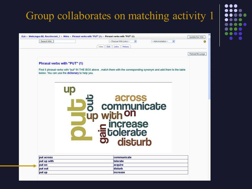 Group collaborates on matching activity 1