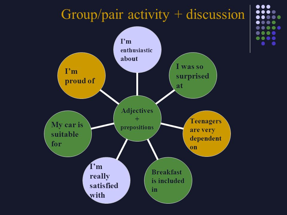 Group/pair activity + discussion