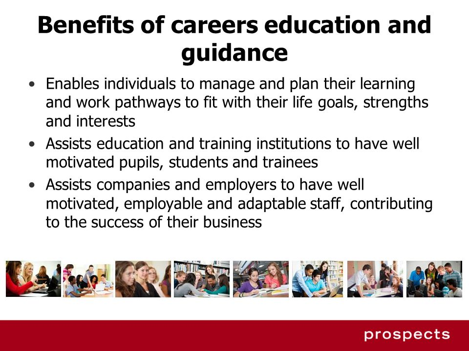 Benefits of careers education and guidance