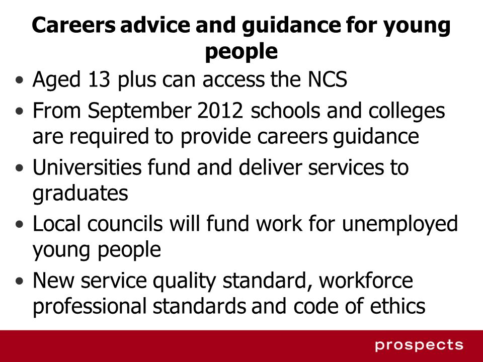 Careers advice and guidance for young people