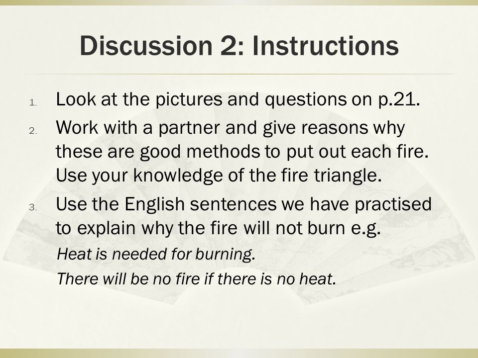 Discussion 2: Instructions