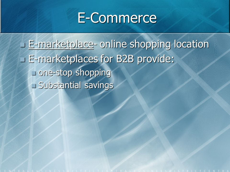 E-Commerce E-marketplace- online shopping location