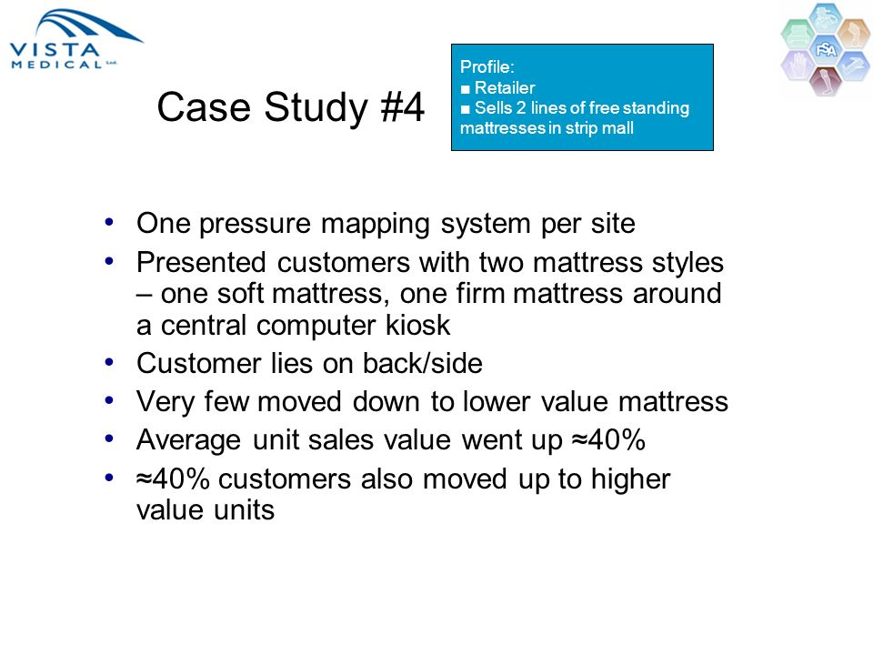 Case Study #4 One pressure mapping system per site