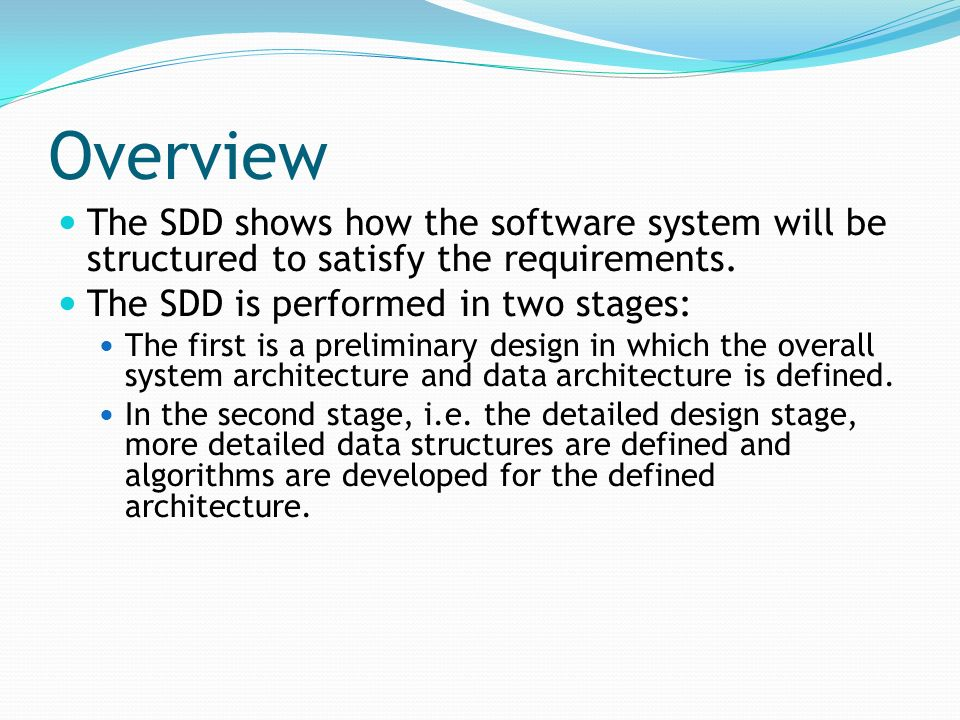 Software Design Document Sdd Ppt Video Online Download
