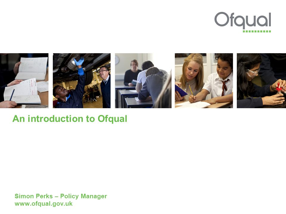 An introduction to Ofqual