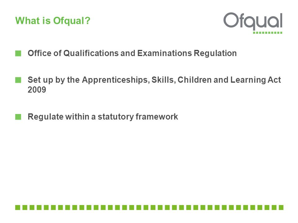 What is Ofqual Office of Qualifications and Examinations Regulation