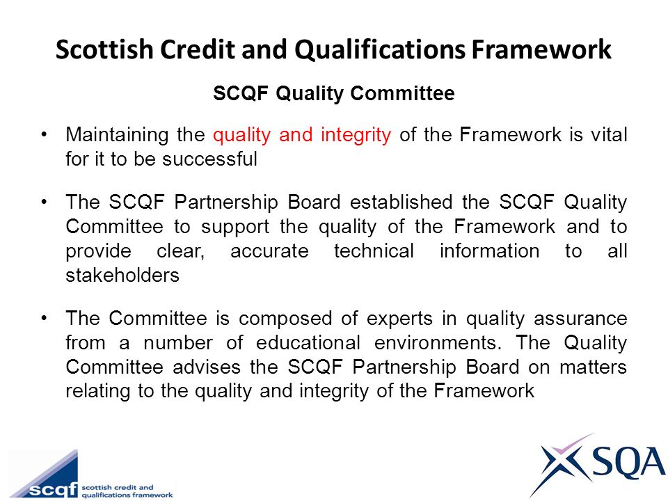 Scottish Credit and Qualifications Framework